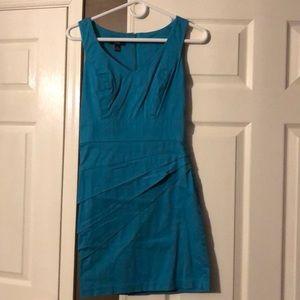 Turquoise bandage dress with back zip